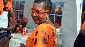 A supporter at the PNP conference. (Photo: Loop Jamaica)