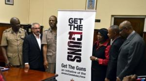 "The ""Get the Guns"" initiative was launched by the police last week. I will provide more details in my next post.  (Photo: Loop Jamaica)"