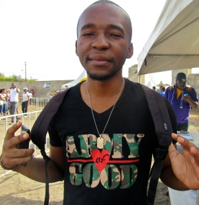 """""""Army of Good"""": Student leader Germaine Bryan was there, representing the University of the West Indies'"""