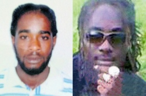 Jason Daley (left) and Joseph Taylor were shot dead while playing dominoes with a group of people in St. Elizabeth on Wednesday. Three others were injured in the gun attack. (Photo: Jamaica Observer)