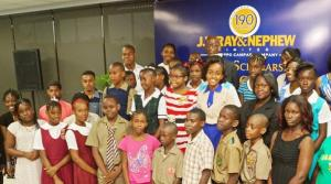 Students from Kingston, Clarendon and St. Elizabeth received scholarships from J. Wray & Nephew.