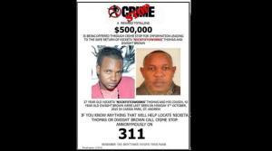 Crime Stop is offering a J$500,000 reward for information on