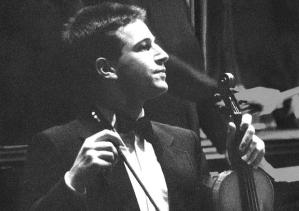 A young Daniel Pearl with his violin. A photograph from the Stanford University Department of Music website; Pearl was an alumnus.