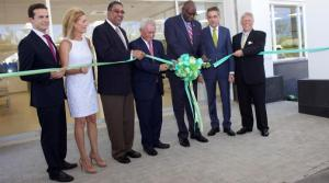 Ribbon-cutters: Minister of Tourism Wykeham McNeill (2nd left) and Health Minister Dr. Fenton Ferguson (3rd right) at the official opening of the J$2.3 billion, Hospiten Montego Bay on Thursday morning in Cinnamon Hill, Rose Hall, St James. (Photo: Loop Jamaica)