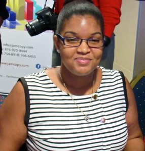 Candice Carby is E-Business Development Coordinator at Carlong Publishers (Caribbean) Ltd., one of the sponsors of #theOnlineMind. (My photo)