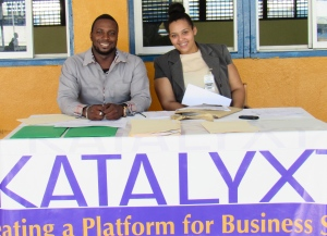 Jerome and Amanda are two members of the young and hard-working Katalyxt team. (My photo)