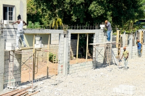 The S.T.E.P. Centre under construction. Architect Douglas Stiebel volunteered his services to design the new building. (Photo: Digicel Foundation)