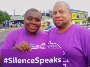 Two amazing activists: Executive Director of Eve for Life Patricia Watson and Executive Director of J-FLAG Dane Lewis posed for their picture. (My photo)