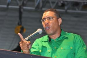 Opposition Leader Andrew Holness is kicking up a storm on campaign platforms, BUT… (Photo: Gleaner)