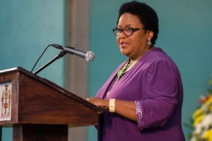 Donna Parchment Brown, the new Political Ombudsman, was sworn in on
