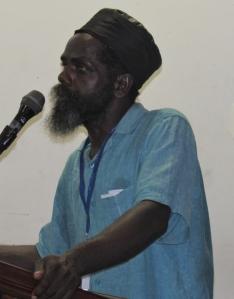 Clavie Johnson urges vigilance and resilience. (My photo)