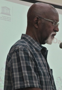 Professor Mervyn Morris is Jamaica's Poet Laureate. (My photo)
