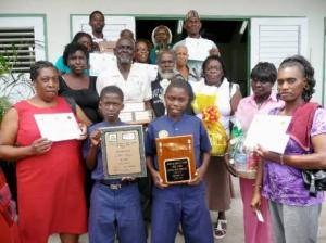 Representatives of Sturge Town, St Ann, first-place winners in the 2008 National BEST Competition, pose with their awards. (Photo: Gleaner)