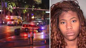 The sad face of Lakeisha Holloway, 24, who crashed her car near the Miss Universe pageant in Las Vegas last night. (AP Photo/John Locher/LVMPD)