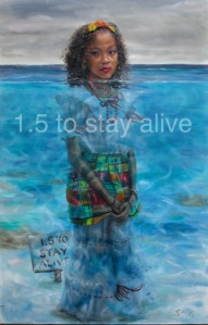 "This beautiful painting by Jonathan Gladding is a contribution to the ""1.5 To Stay Alive"" campaign. (Photo: Contributed/Panos Caribbean)"