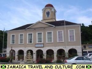 What is happening in the pretty little parish of Hanover? This is the court house in Lucea.