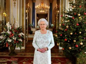 "Queenie at Christmas. Her annual message also referred to ""moments of darkness"" and ""candles of hope."" (Photo: Getty Images)"