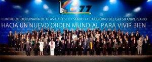 Representatives at the Summit of the Group of 77 plus China, meeting in Santa Clara, Bolivia, on June 14, 2014.