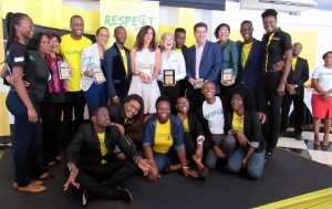 """Respect Jamaica awardees and sponsors at the """"This is Respect"""" Awardees Breakfast on December 14. (My photo)"""