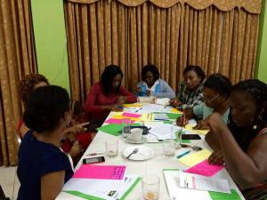 """Women discuss the issues most important to them at the 51% Coalition's """"Tea and Talk"""" consultation on December 15. (Photo: 51% Coalition)"""