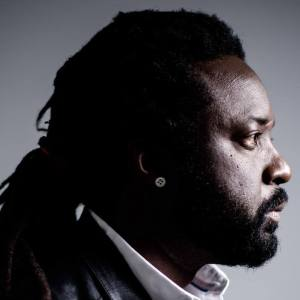 I very much like this photo of prize-winning Jamaican author Marlon James.