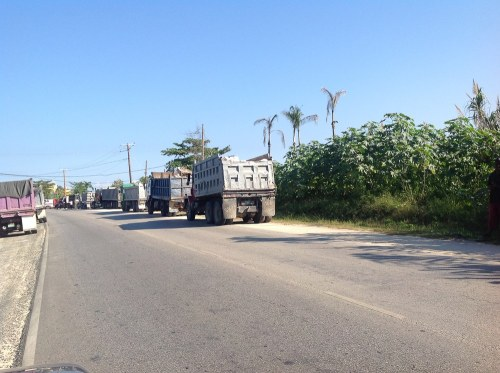Residents claim that at least thirty truckloads of sand left Negril today. (Photo: Facebook)