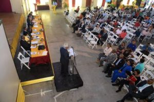 The RJR Group's shareholders' meeting at Wolmer's Boys' School Auditorium in Kingston last week. (Photo: Jamaica Observer)