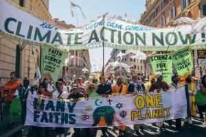 A demonstration in support of the Hindu Declaration on Climate Change. (Photo: Hindu American Foundation)