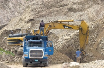 Quarrying in Bull Bay, St. Andrew - one of the areas studied in JET's survey. (Photo: Jamaica Observer)