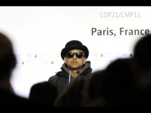 Sean Paul at the Paris Conference on Climate Change. (Photo: AP)
