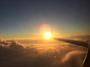 The sun sets on 2015 - from a Colorado-bound airplane. (Photo: Twitter)
