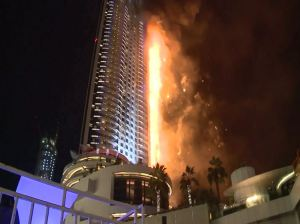 In Dubai, it was fire AND fireworks.