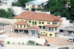 Opposition Leader Andrew Holness' house under construction in upper St. Andrew. His wife Juliet is also running for political office, for the first time. (Photo: Jamaica Observer)