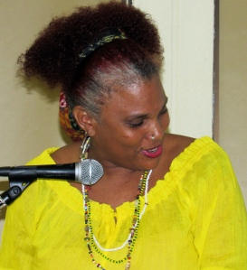 Gender and Development Specialist Taitu Heron was guest speaker at the launch. (My photo)