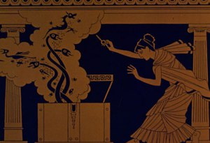 In Greek mythology, Pandora opened a box (or rather, a jar) out of which flew many evils - including disease.