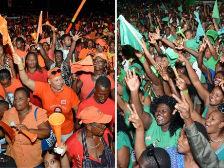 The election campaign seems never-ending. In reality, it began last November, with a short break for Christmas. With no debates, the rallies have taken over, with the Opposition Jamaica Labour Party currently descending on Half Way Tree in Kingston. (Photo: Gleaner)