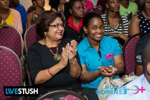 My role model, Public Relations guru and philanthropist Jean Lowrie-Chin enjoying the event, along with her daughter Anita. (Photo: WE-Change)