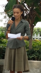 "Yashika Graham read some nostalgic ""country girl"" poems. Big ups to the Poetry Society of Jamaica!"