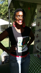 Publisher and children's book writer Tanya Batson-Savage (who also runs the awesome arts website susumba.com) at her Blue Moon Publishing booth.