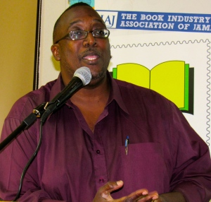 "Dramatist and poet Fabian Thomas gave his own inimitable interpretation of ""Storytelling for Social Change"" at the University of the West Indies."