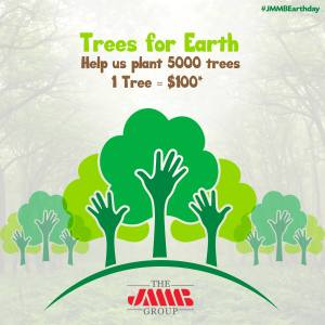 JMMB's Earth Day Trees for Earth project.