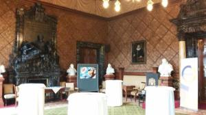 One of the rooms in the City Hall of Hamburg, where the photographs are displayed.