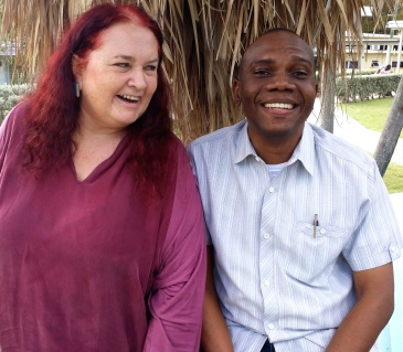 Wayne Campbell and I met up for the first time at the University of the West Indies campus some weeks ago. (Photo: Latoya Nugent)