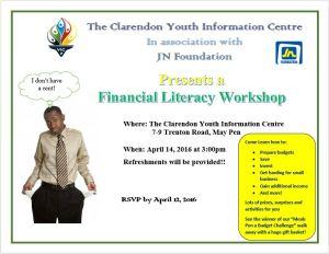 Financial Literacy Workshop Flyer