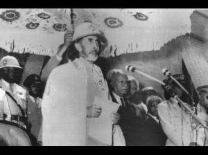 His Imperial Majesty Haile Selassie I on his visit to Jamaica on April 21, 1966. (Photo: Gleaner)