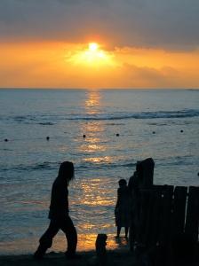 Sunset, Treasure Beach. (My photo)