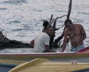 Fishermen, Treasure Beach. (My photo)