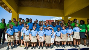 Children at a facility built by the Digicel Foundation for the NAZ Children's Centre in Rose Hall, Montego Bay in July, 2014. The Centre is a multi-faceted educational institution for average and above average learners and children with special needs—each of whom gets specialised attention. They provide quality education for students with learning and other challenges such Down Syndrome, Autism, Learning Delays and Cerebral Palsy that constitute about half the student cohort. (Photo: Digicel Foundation)