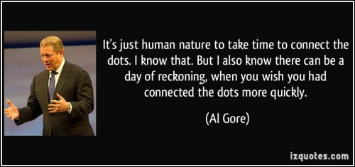 An excellent comment from former U.S. Vice President Al Gore, one of the first to sound the alarm.