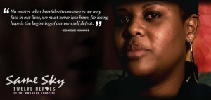 A message from a Rwandan survivor of rape, which left her HIV-positive along with thousands of other women. (from same sky.com)